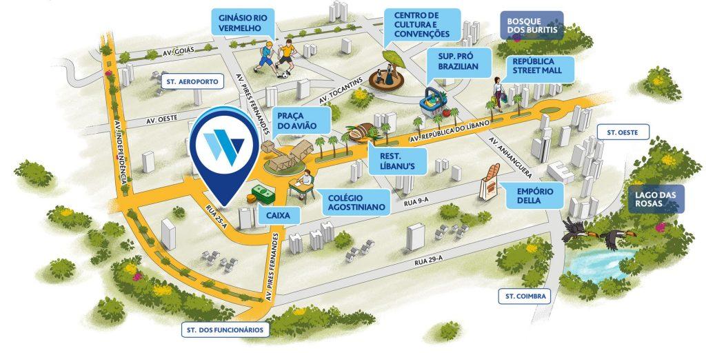 Mapa Ilustrativo Wish Aeroporto